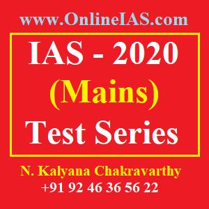 IAS 2020 (Mains) Test Series
